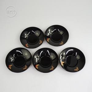 现货日本树脂漆器茶托套装日式茶具配件茶杯垫串门子