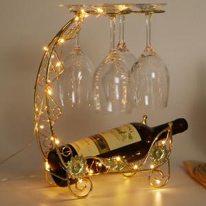 创意红酒杯架悬挂倒挂酒架家用红酒架摆件高脚葡萄酒酒瓶架子挂架