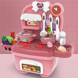 仿真廚房過家家玩具女孩寶寶做飯煮飯炒菜廚具套裝六一兒童節禮物