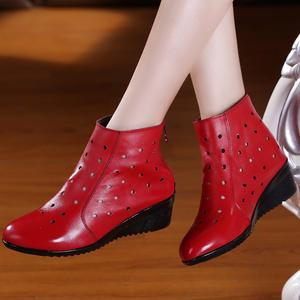 真皮女鞋休闲短靴