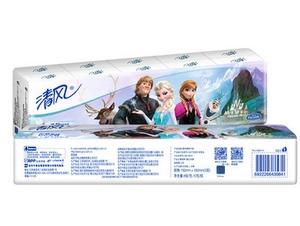 清风迷你冰雪奇缘手帕纸 面巾纸小包纸巾 卫生纸餐巾纸 3层10包