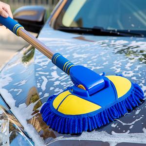 洗车拖把长柄不伤车软毛清洗汽车多功能神器专用工具泡沫刷车刷子