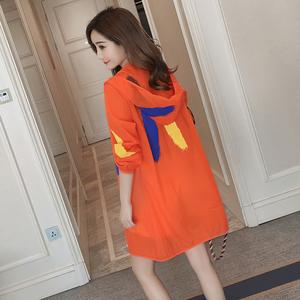 防曬衣女中長款2020夏季新款防紫外線韓版防曬服寬松長袖薄外套