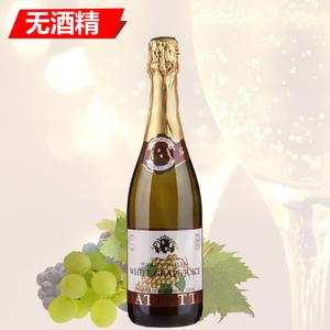 澳洲进口香萃提无醇气泡葡萄酒白汽泡葡萄汁起泡酒无酒精 750毫升