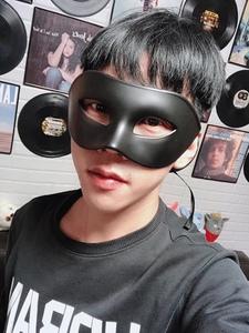 黑色面具情趣成人男半臉面罩酷神秘性感白色男士復古帥氣假面具