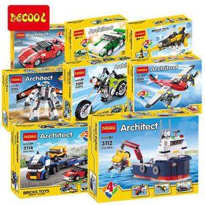 城市系列拼裝積木兼容樂高玩具汽車飛機輪船賽車恐龍變形小顆粒。