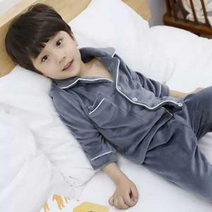 珊瑚絨兒童睡衣薄男孩冬季保暖男童女童寶寶大童家居服套裝法蘭絨