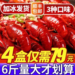 4盒6斤麻辣小龍蝦十三香蒜蓉鮮活盒裝加熱即食新鮮冷凍熟食非蝦尾