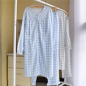 。月子服 上掀式哺乳睡衣 哺乳睡衣春秋纯棉 横开 5月份棉薄款卡
