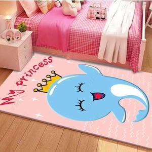 卡通地毯臥室房間床邊毯兒童房地墊家用公主女孩男孩爬行墊可擦洗