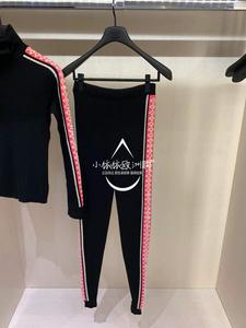 法国代购 Chanel香奈儿 19新款女裤休闲长裤拼色运动风百搭P62183