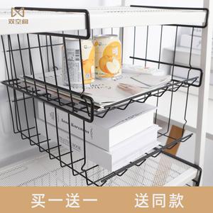 大学寝室叠加收纳架宿舍书桌柜子分层衣柜悬挂整理架橱柜置物架