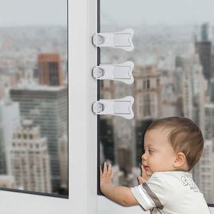 抽届扣3个装 儿童移门锁 推拉窗儿童防护安全锁 窗户固定器阻推器