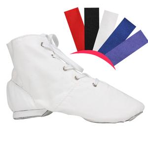 帆布女成人高邦舞蹈鞋系带黑白练功鞋正品爵士靴男软底高帮