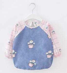 罩衣兒童1罩2幼兒園3圍裙4畫畫5吃飯6防水小孩0-7歲圍兜兜