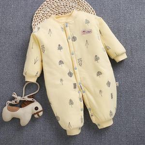 。。嬰兒棉服秋冬裝一兩個月男女孩0到3個月6寶寶12連體衣服4加厚