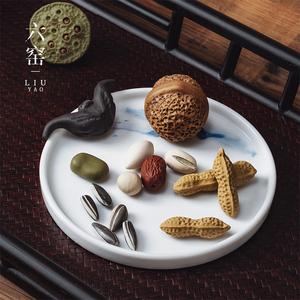 紫砂茶寵 擺件可養仿真核桃花生瓜子聚寶盆精品茶玩禪意創意把玩