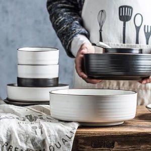 創意個性北歐風大號湯碗家用陶瓷日式單個湯碗泡面碗沙拉碗超大碗