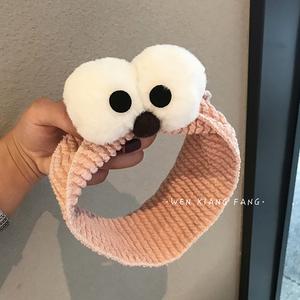 洗臉束發帶女網紅韓國大眼睛頭箍簡約清新可愛發捆發箍發卡頭飾品