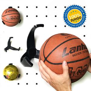 篮球足球墙上收纳夹 创意球爪  运动篮整理架体育用品展示架 球迷
