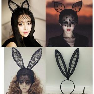 紫尚軒時尚流行情趣飾品蕾絲貓耳朵發卡兔女郎女仆性感內衣發箍角