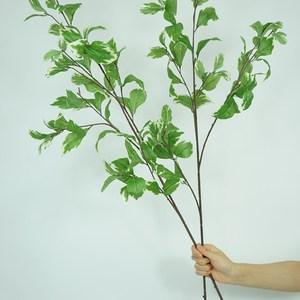 仿真綠植葉子栽枝長款白蓮葉家居裝飾落地假花藝插裝盆單軟花配葉