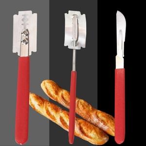 歐式面包法棍割包刀軟歐包割刀工具手工割紋整形弧形不銹鋼換刀片