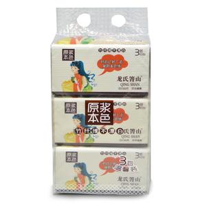 箐山本色婴儿抽纸 宝宝专用不漂白原生竹浆卫生纸餐巾纸12包
