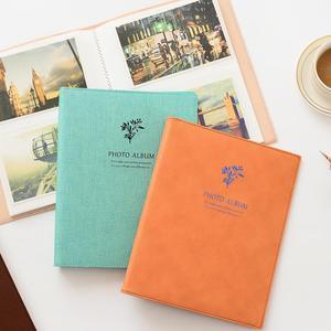 韩版拍立得5寸3R6寸4R7寸照片插页式宝宝家庭创意相册 皮革相簿