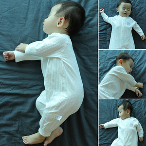 婴儿连体衣服春秋季纯棉新生儿睡衣秋冬女哈衣爬服男宝宝长袖秋装