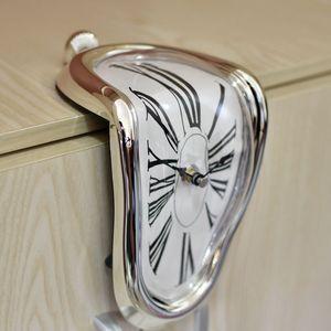 【新品】創意時鐘融化鐘表掛鐘扭曲 達利記憶的永恒的時間 ins風