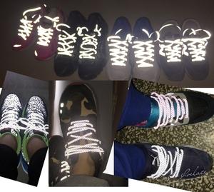 反光鞋带圆编织手链DIY潮流运动跑鞋篮球圆YEEZY椰子350V2满天星