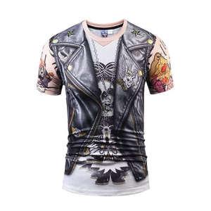 非主流男装短袖t恤很酷有个性好看的T恤潮流帅哥短袖体恤男带图案