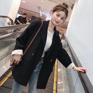2019新款韩版秋装西装外套女潮休闲网红小西服套装英伦风秋冬上衣