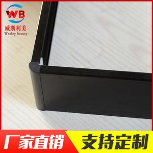 黑鈦拉絲鋁合金踢腳線板地腳線櫥柜拉絲木地板防水踢腳線廠家直銷