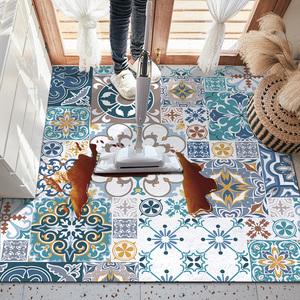 歐式民族風地墊可自由裁剪的客廳進門防滑定制大面積廚房可擦腳墊