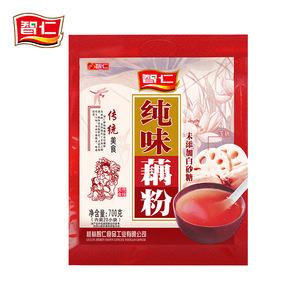智仁纯味莲藕粉700g小袋装原味无人工添加糖精冲饮营养代早餐粥羹