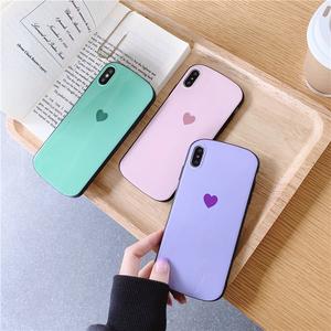 简?#21450;?#24515;8plus苹果x手机壳XS Max/XR/iPhoneX/7p/6女iphone6s硅胶套个性创意日韩国全包边防摔保护套新款