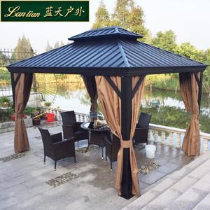 戶外遮陽棚涼亭帳篷室外遮雨棚庭院花園露臺天幕戶外活動帳篷3米