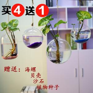 创意悬挂鱼缸透明玻璃水培吊瓶花瓶卧室客厅墙面装饰工艺品