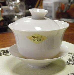 恒福正品 古玉瓷大/小盖碗白瓷介杯 三才碗纯白泡茶碗 下单活动价