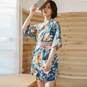 日系和服汗蒸服女款100%純棉韓版可愛性感桑拿服女童浴服大碼套裝