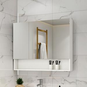浴室鏡柜掛墻式衛生間鏡子帶置物架收納一體柜洗手間廁所化妝儲物