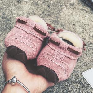 羊皮毛一体冬豆豆鞋女羊毛加绒加厚保暖平底棉瓢鞋懒人原宿毛毛鞋