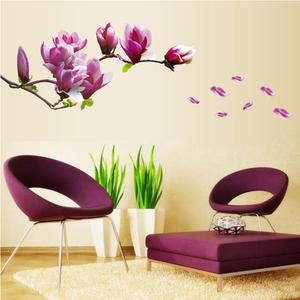 清新玉蘭花墻貼時尚客廳臥室電視背景貼畫浪漫溫馨家居裝飾貼紙畫
