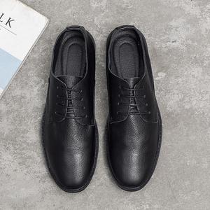 夏季韓版商務休閑小皮鞋男英倫風百搭黑色青年正裝復古潮鞋男鞋子