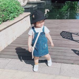 女宝宝背带牛仔短裙夏装薄款纯棉软牛仔连衣裙子春秋小童婴儿洋气