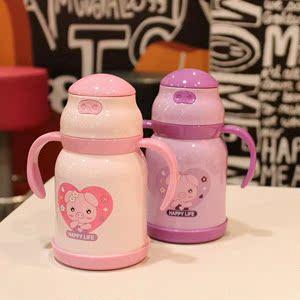 帶吸管喝水口杯子寶寶學飲杯鴨嘴兩用 1一3周歲可愛300ml寶寶保溫