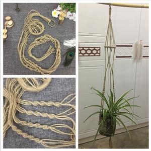 麻绳花盆纯手工编织挂钩吊篮网兜田园花器壁挂装饰满就送教程