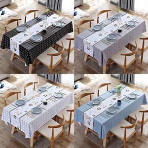 北歐桌布布藝防水防燙防油免洗長方形pvc茶幾布餐桌墊書桌ins學生